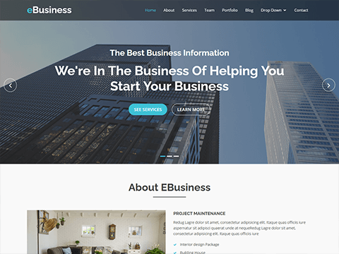eBusiness Bootstrap Corporate Template