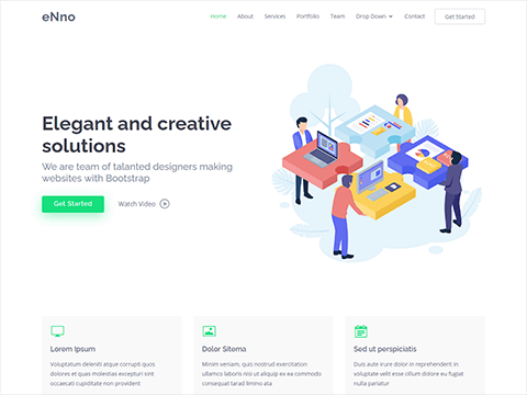 eNno – Simple Bootstrap Landing Page Template