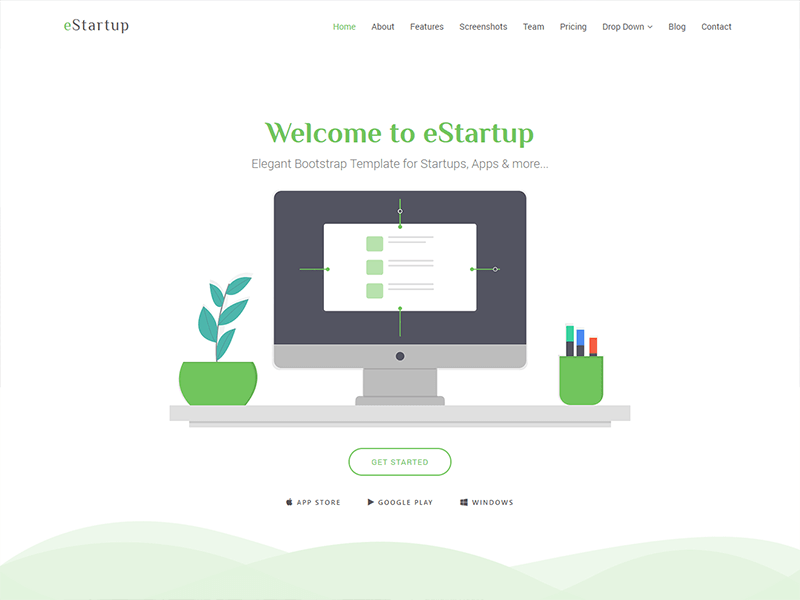 eStartup - Bootstrap Landing Page Template